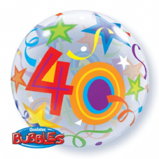 40th Brilliant Stars Bubble Balloon
